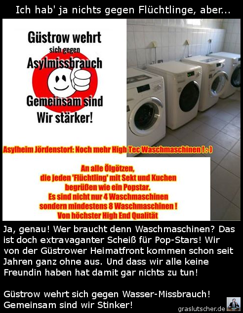 Flüchtlinge waschen