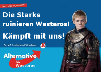 Joffrey Wahlplakat