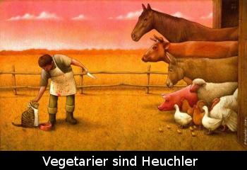 vegetarier sind heuchler
